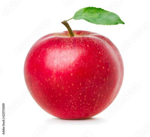Foto op Aluminium Vruchten ripe red apple isolated on white background