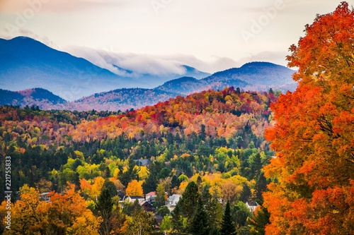 Peak Fall Colors in New England Canvas-taulu