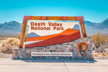 Death Valley National Park Entrance Sign, California, USA