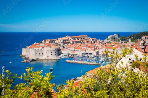 Foto  Old town of Dubrovnik in summer, Dalmatia, Croatia