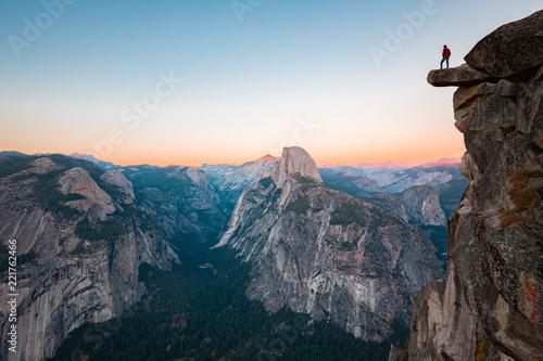 Obraz Hiker in Yosemite National Park, California, USA - fototapety do salonu