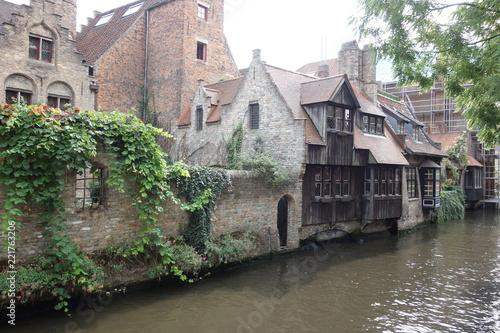 Poster Ville sur l eau ブルージュ、ベルギー