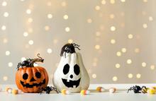 Halloween Pumpkins With Spider...