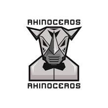 Metal Robot Rhinoceros With Butterfly Tie Logo Gamer Esport Illustration Symbol Design