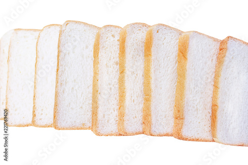 Top View Stacks Of Bread Isolated On White Background Buy