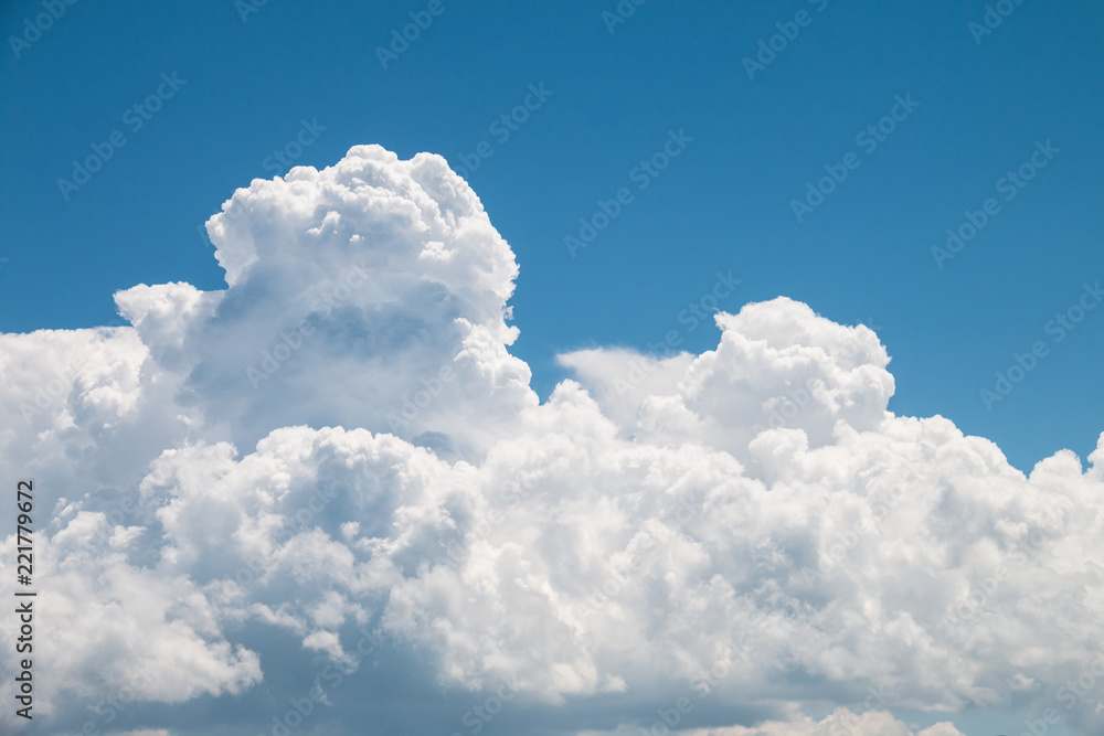 Fototapety, obrazy: White clouds and blue sky
