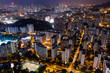 Hong Kong urban city at night
