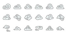 Chinese Cloud Icon Raw Materia...