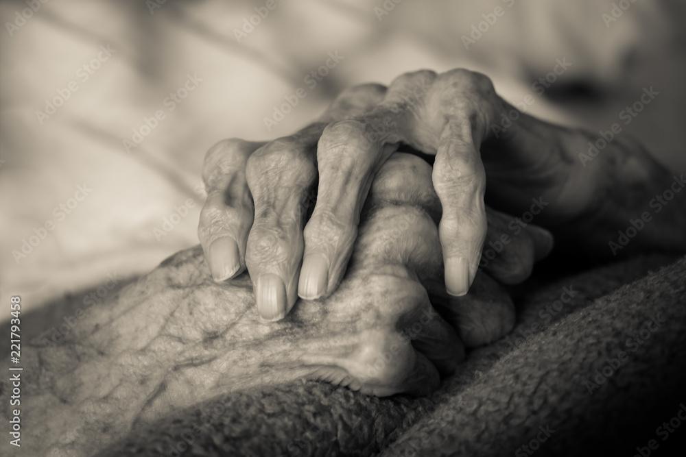 Fototapeta Senioren Hände