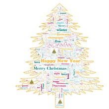 Merry Christmas Word Cloud In ...
