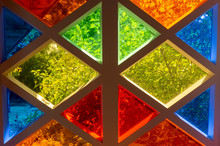 Colored Glass Of Different Colors, Diamond Shape