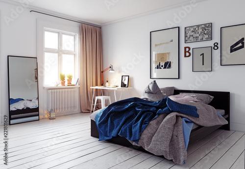 Fotografie, Obraz  modern bedroom interior