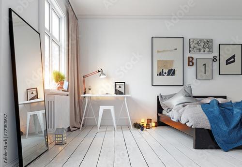 Fotografía  modern bedroom interior
