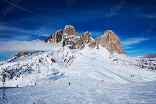 Ski resort in Dolomites, Italy Tablou Canvas