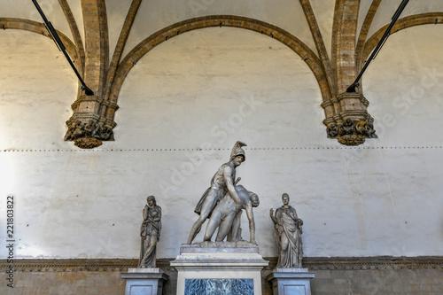 Deurstickers Artistiek mon. Loggia dei Lanzi - Florence, Italy