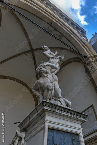 Photo  The Rape of the Sabine Women - Florence, Italy