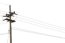 Electric Pylon Isolated On Whi...