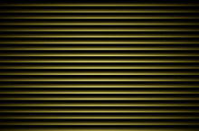 Green Horizontal Blinds Wall With Light Effect