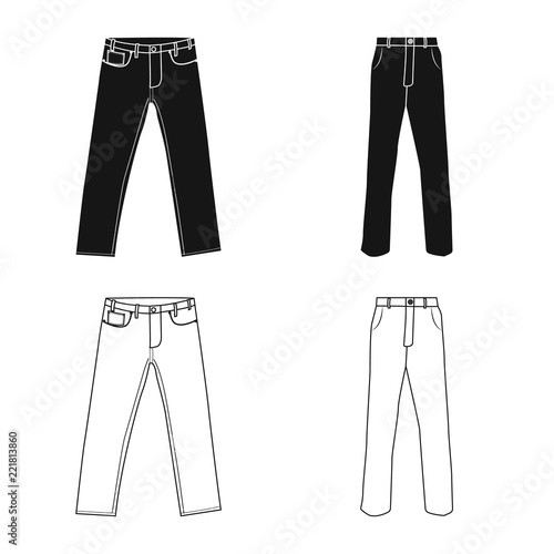 Fotografie, Obraz  Vector illustration of man and clothing symbol