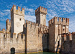 Sirmione, Italy 17 August 2018: Lake Garda. Old town fortress.