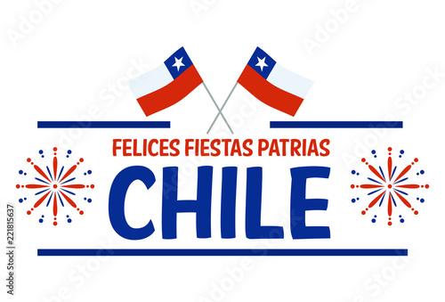 Fotomural Fiestas Patrias - Independence Day celebration of Chile Spanish phrase