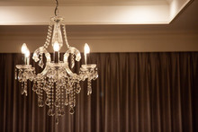 Chrystal Chandelier Lamp On Th...