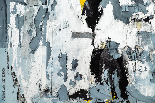 Abstract background from colorful wall with torn sticker paper. Image for add text message. Backdrop for graphic design.