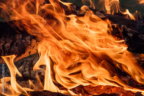 Foto op Canvas Vuur blaze fire flame texture background