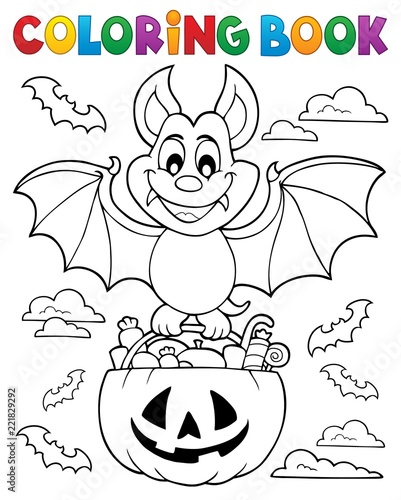 Door stickers For Kids Coloring book Halloween bat theme 1
