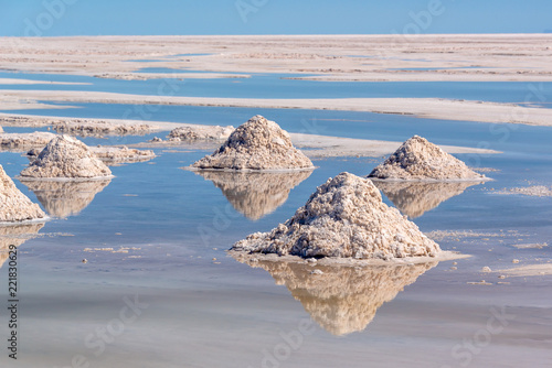 Spoed Foto op Canvas Centraal-Amerika Landen Piles of salt in Salar de Uyuni, Potosi, Bolivia