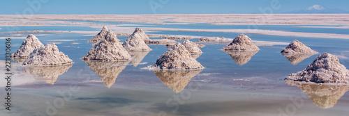 Poster Centraal-Amerika Landen Piles of salt in Salar de Uyuni (Uyuni salt flats), Potosi, Bolivia