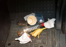 Trash In Car