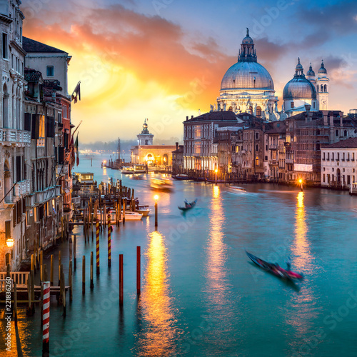 obraz dibond Canal Grande in Venedig, Italien