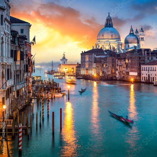 fototapeta na lodówkę Canal Grande in Venedig, Italien