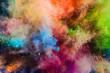 Leinwandbild Motiv Colorful powder splashing in the air.