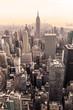 Manhattan downtown skyline panorama, New York City, USA