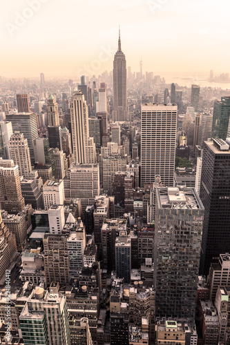 Foto auf AluDibond New York City Manhattan downtown skyline panorama, New York City, USA