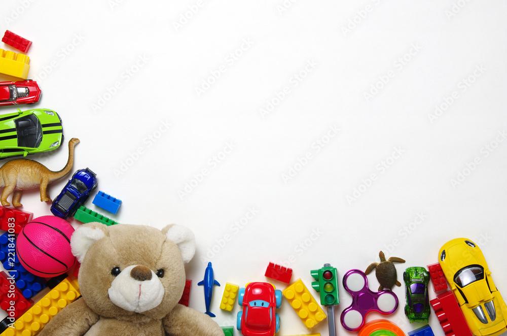 Fototapety, obrazy: Kids toys and colorful blocks