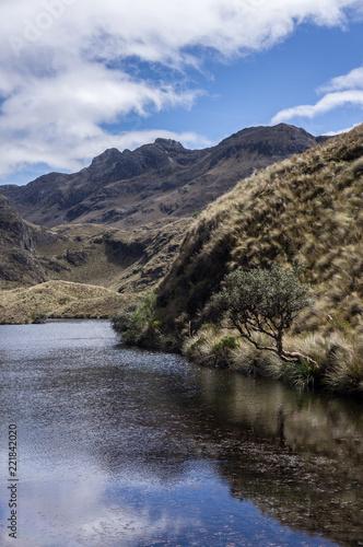 Keuken foto achterwand Zuid-Amerika land Lac dans le parc national El Cajas, Équateur