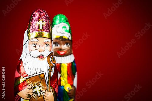 Photo Saint Nicholas and black pete