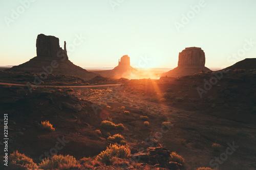 Foto op Canvas Verenigde Staten Monument Valley at sunrise, Arizona, USA