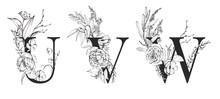 Graphic Floral Alphabet Set - ...