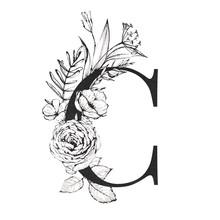 Graphic Floral Alphabet - Lett...