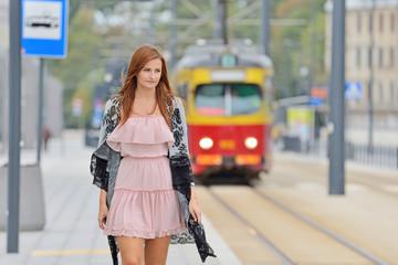 Girl in the city.