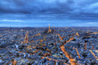 The Eiffel tower at night seen from the Tour Montparnasse in Paris, France, on February 19, 2014