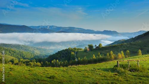 Staande foto Blauwe jeans Landscape from Transylvania - Dumesti, Salciua - Romania