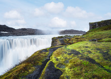 Landscape With Waterfall Dettifoss, Iceland