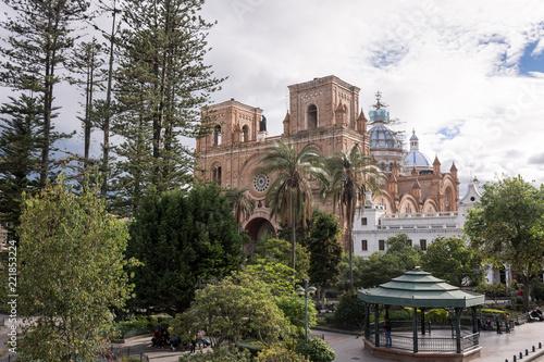 Keuken foto achterwand Zuid-Amerika land Cathédrale de Cuenca, Parque Calderon, Équateur