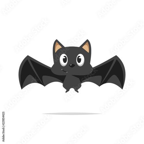 Foto Cute cartoon bat vector