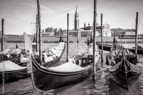 Staande foto Praag Gondolas in the parking near San Marco Square, Venice, Italy